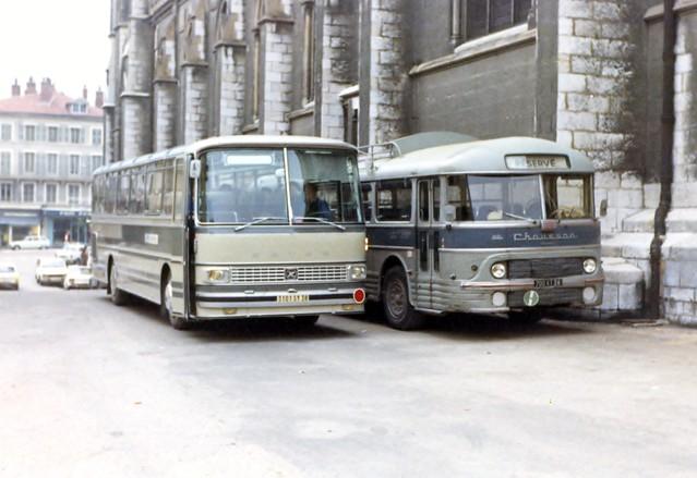 Setra S-130 (1970) et APH-522- (1961) - Cars Huillier