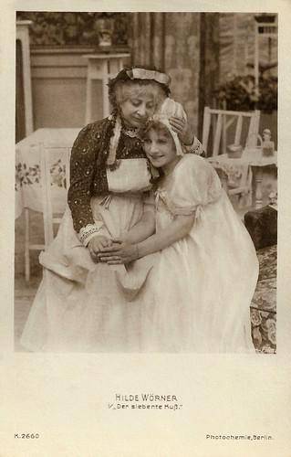 Hilde Wörner in Der siebente Kuß (1918)