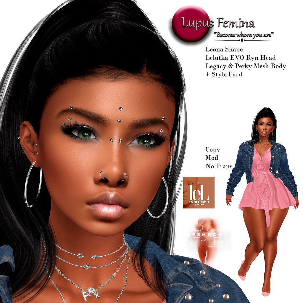 """Lupus Femina"" Leona Lelutka EVO Ryn Head"