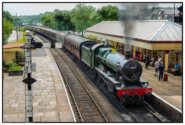 6990 Witherslack Hall at Ramsbottom Station.