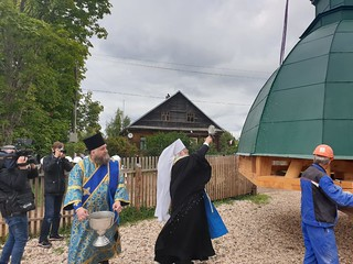 29.08.2020 | Освящение креста в деревне Сопины