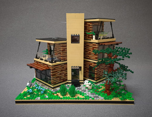 Angled Case House MOC. Front.