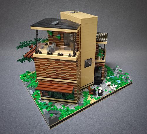 Angled Case House MOC. Backside.