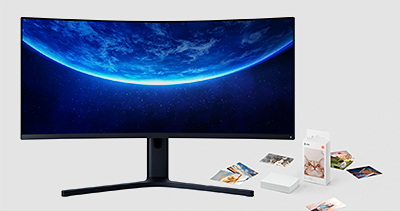 "The Mi Curved Gaming Monitor 34"" (S$649) and Mi Portable Photo Printer (S$99) from Xiaomi are now available in Singapore."