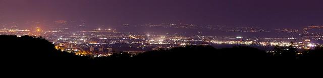 Panorama notturno su Roma