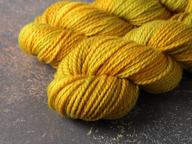 Awesome Aran – pure British wool superwash hand-dyed yarn 100g – 'Colonel Mustard'