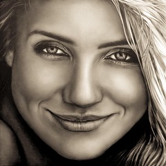 Birthday Girl Cameron Diaz 48 Immortalized here in Oil on canvas Portrait Painting 110/110cm     #realisticart #fineartportraits #fineartportrait #commissionedportrait  #contemporaryart #oilportrait #getinspired #portraitpainting #camerondiaz #commissiond