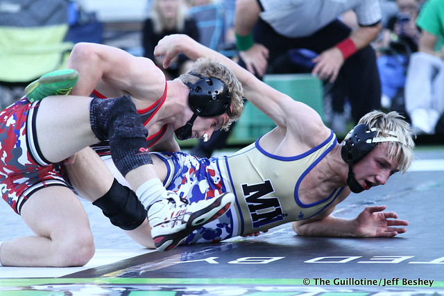 Jaxson Rohman (Fairmont/Martin County West) won by decision over Drayden Morton (Sibley East) (Dec 5-3). 200830AJF0668