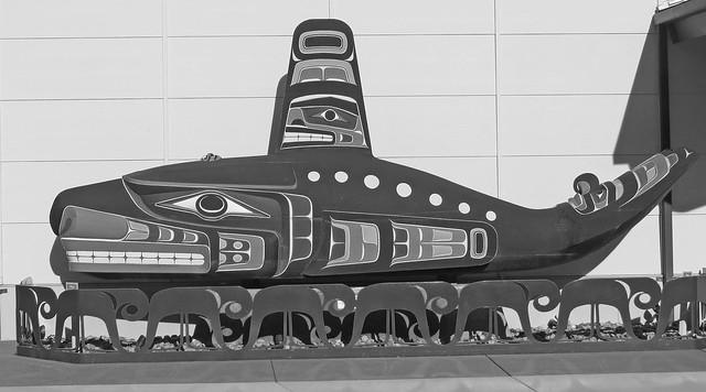 Orca Carving, S'Kallam Tribe, Jamestown Washington