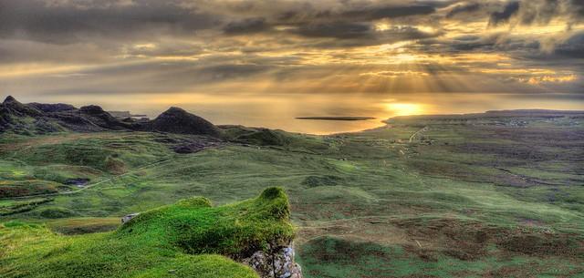 Quiraing, Isle of Skye, Highland, Scotland, UK