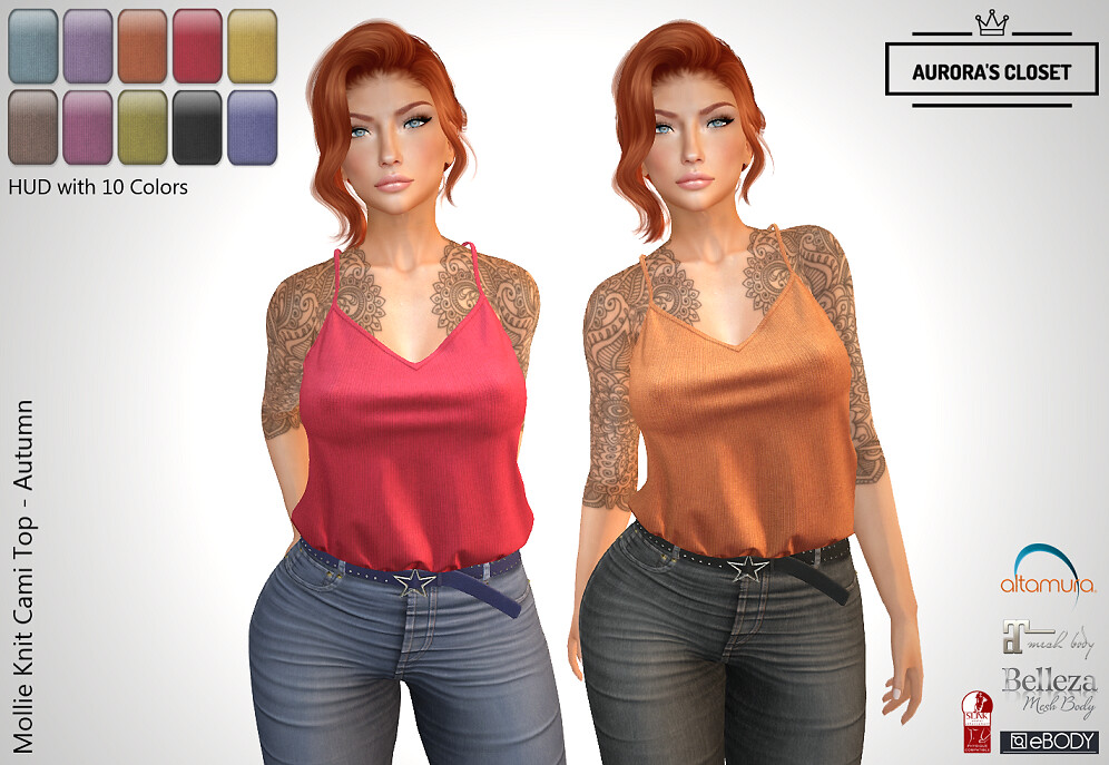 :: AC ::  Molie Knit Cami with HUD – Autumn