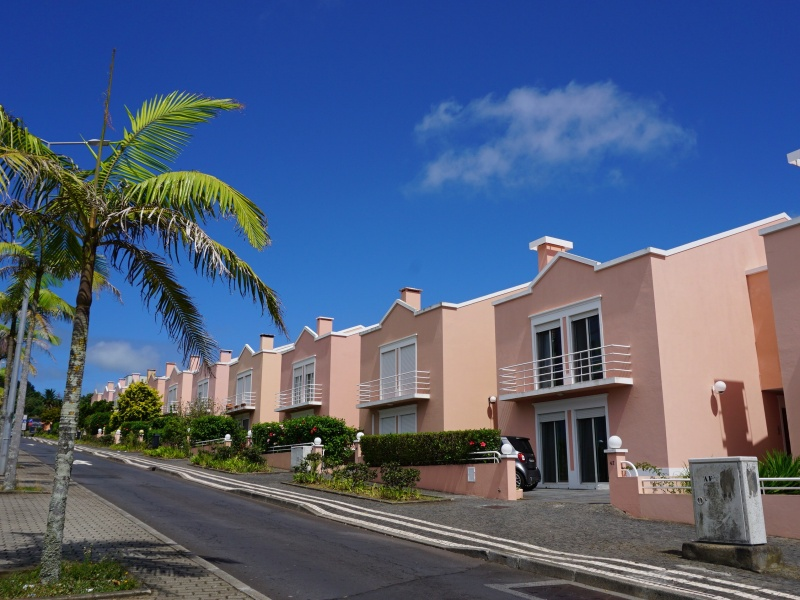 Azores pink houses