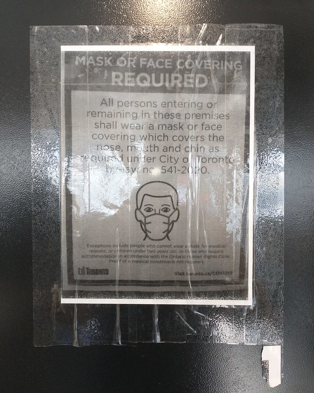 Laundromat warning #toronto #dovercourtvillage #dovercourtcoinlaundry #covid19 #covid19toronto #sign