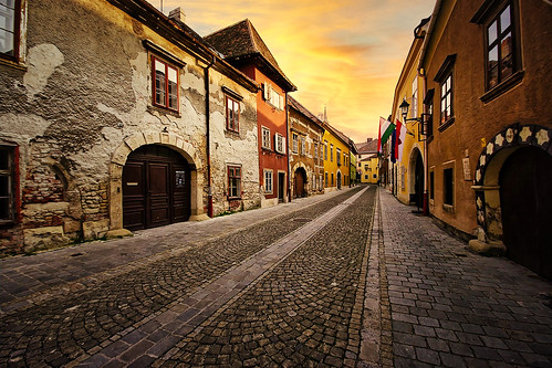 Sopron Old Town, Hungary at Golden Hour