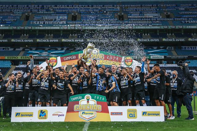 Grêmio x Caxias - Final Gauchão 2020 - 30/08/2020 - Tricampeão