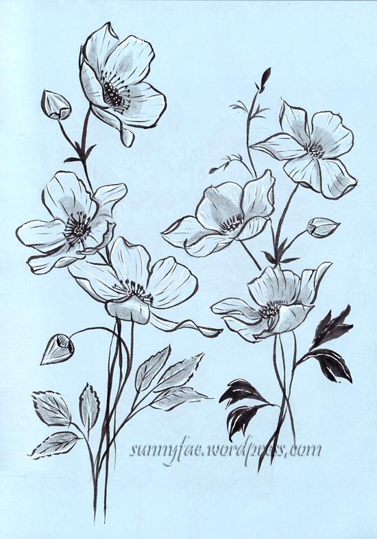 flower value sketch