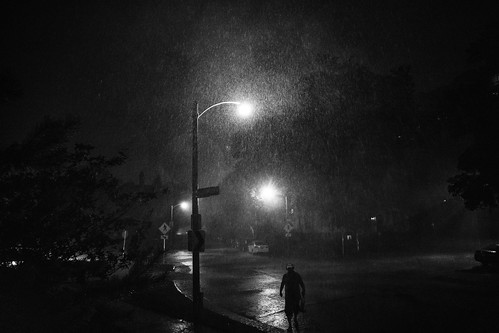 Man in Downpour