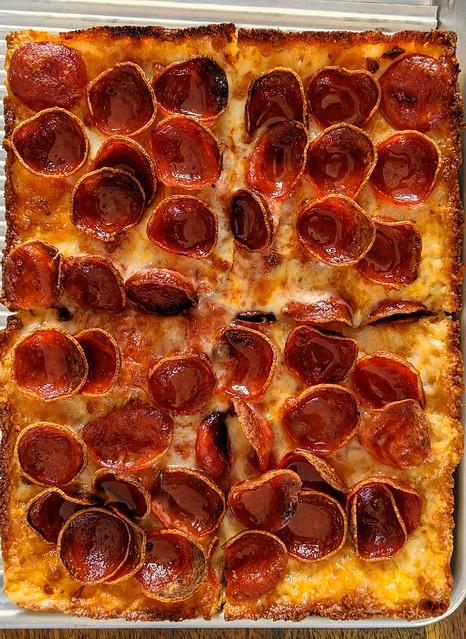 Square Pie Guys pizza