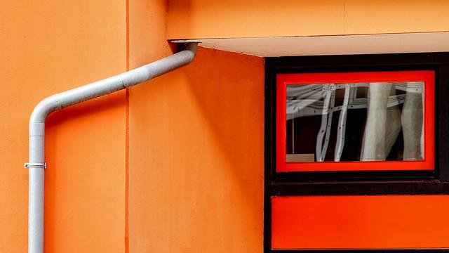 Orange Wall Abstract