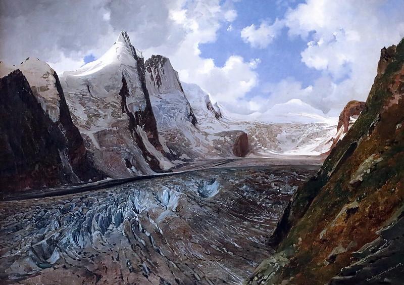 IMG_8301I Thomas Ender 1793-1875 Wien  Le Grossglockner avec le glacier Pasterze  The Grossglockner with the Pasterze Glacier  1832 Wien  Belvedere.