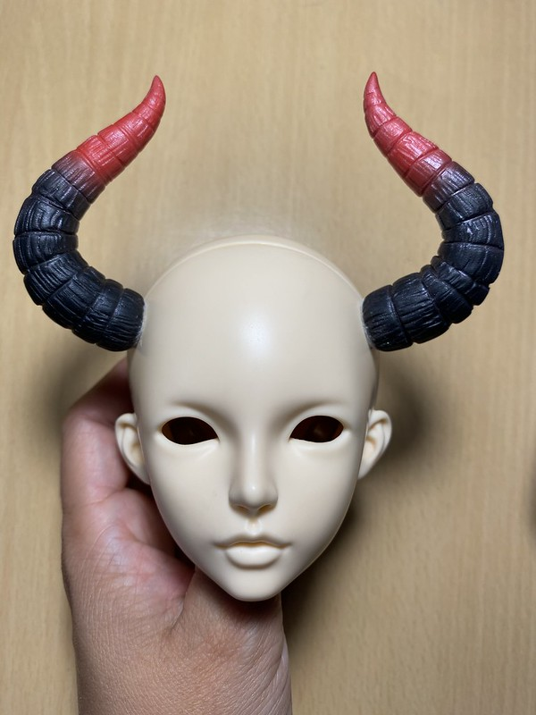 Gradated two colored horns SD