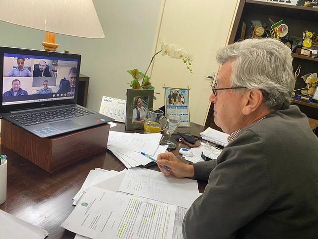 20/08/2020 Reunião com o ministro da Infraestrutura, Tarcisio Gomes de Freitas