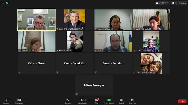 28/08/2020 Reunião Caixa Econômica Federal e Prefeitos do RS