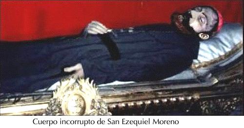 Cuerpo incorrupto de S. Ezequiel Moreno