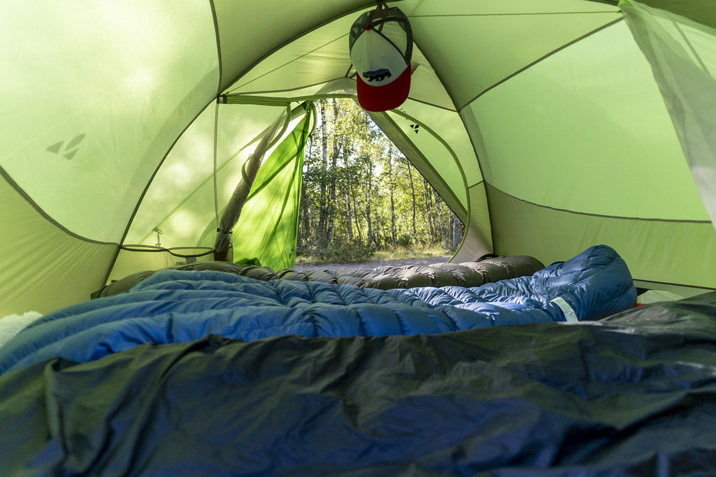 Inside the Vaude Seamless 2-3 Tent
