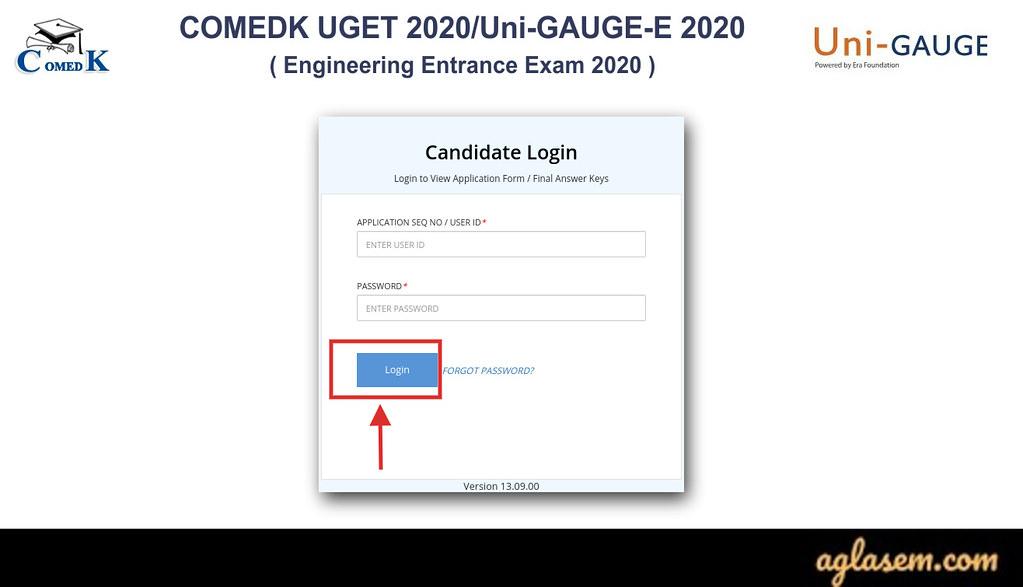 COMEDK 2020 Answer Key
