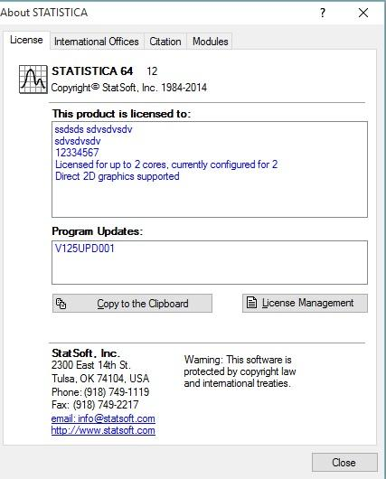 Working with StatSoft STATISTICA 12.5.192.7 full