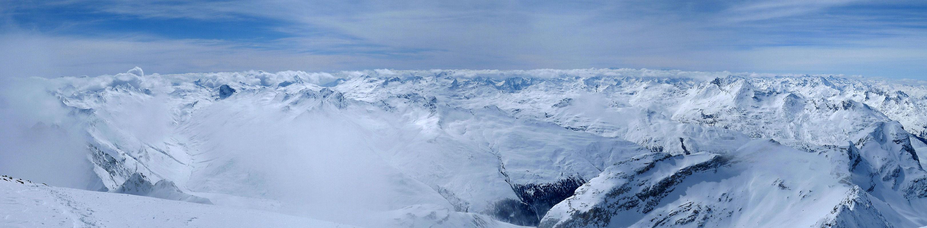 Piz Platta Plattagruppe / Oberhalbstein Switzerland panorama 01