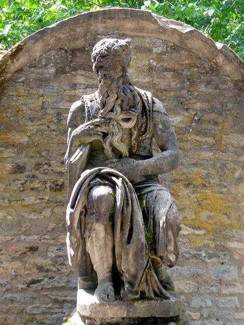 Dijon / Jardin de l'Arquebuse - Statue de Moïse