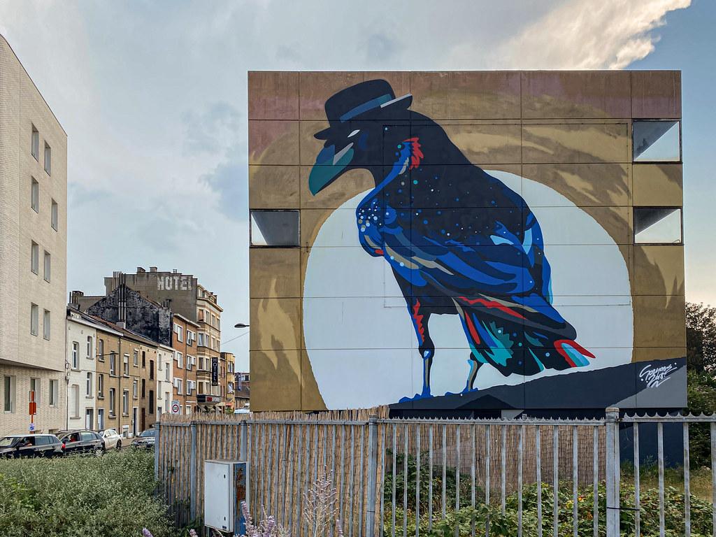 Brussels Corvus Corone by Street Artist Sozyone