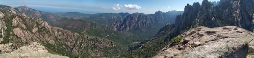 Panoramique depuis le sommet de Punta Malanda