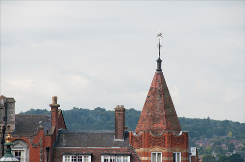Original building image with weather vane