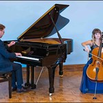 Performing a concert with cellist Hannah McFarlane