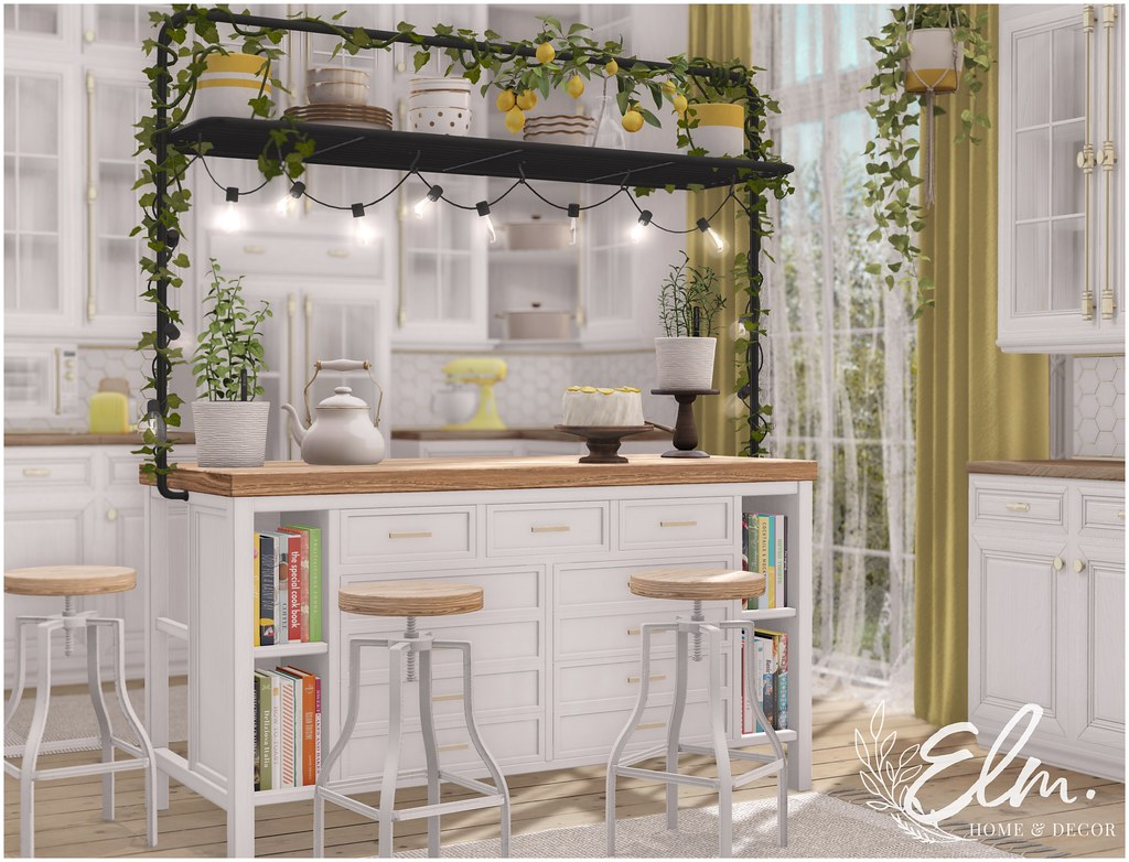 Elm. Byrdie Kitchen Island for Mainstore Mixer