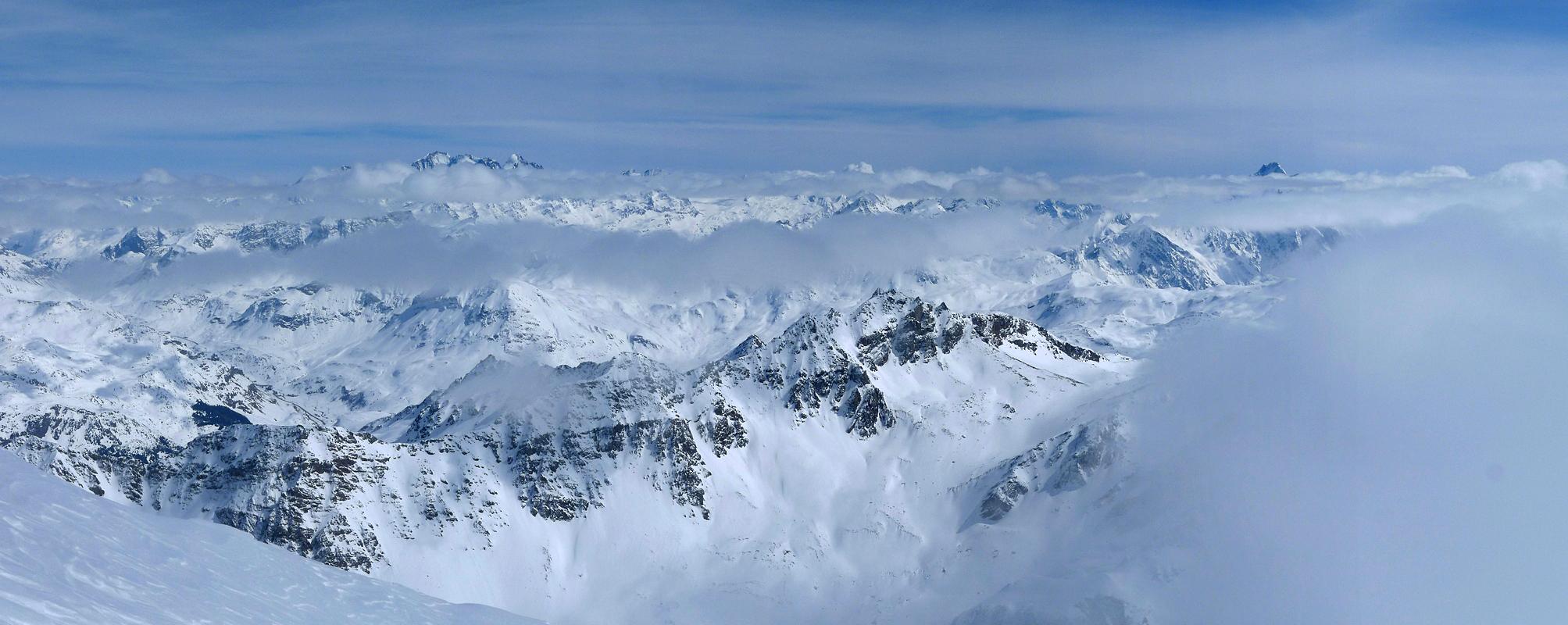 Piz Platta Plattagruppe / Oberhalbstein Switzerland panorama 43