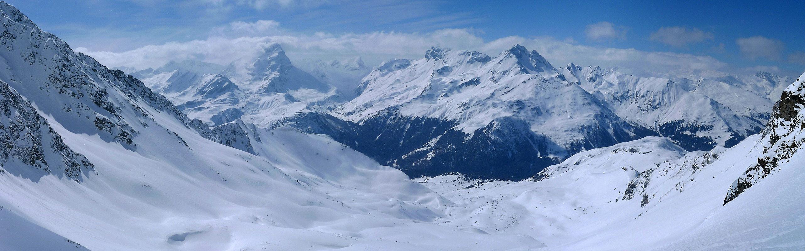Piz Platta Plattagruppe / Oberhalbstein Switzerland panorama 05