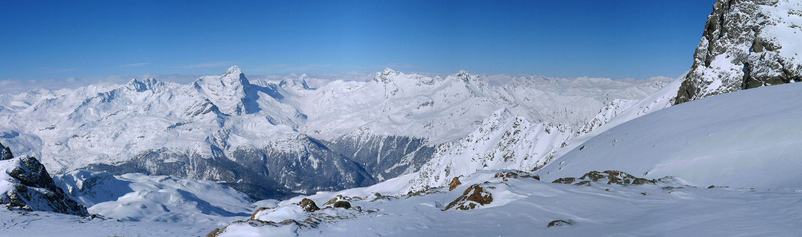Piz Platta Plattagruppe / Oberhalbstein Switzerland panorama 12