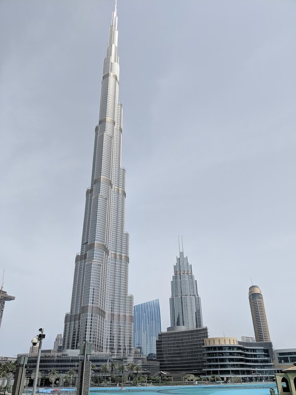 Work, Pleasure and a full stomach – Food and my travels in the UAE. A Culinary Travels Guest Post. Burj Khalifa on the way to lunch