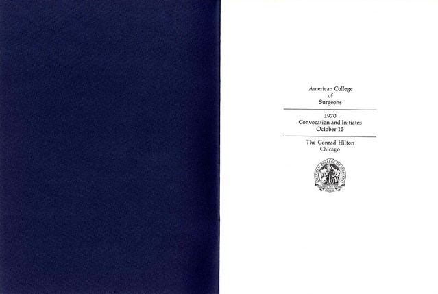 1970 Convocation Booklet
