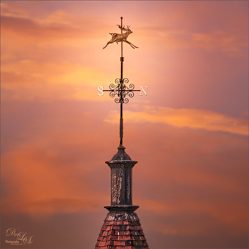 Image of a weather vane on a building at Windsor Castle in England