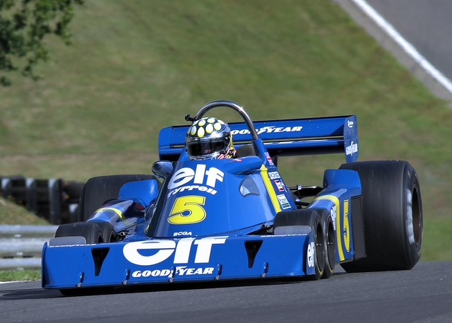 #5 Tyrrell T34 6 Wheeler Masters Historic Brands hatch