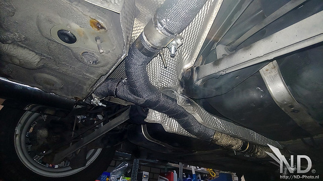 Mini Cooper S R53 JCW Heatwrapped Stainless Exhaust