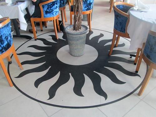 Floor Centrepiece, Carron Restaurant, Stonehaven