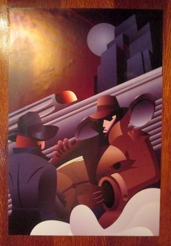 Poster, Carron Restaurant, Stonehaven, Art Deco Style
