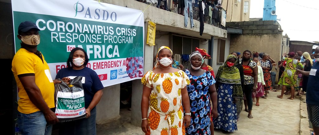 PASDO Coronavirus (Covid-19) Crisis Response Program for Nigeria, CCRPN. Food and Emergency Aid Relief Package distributed to help  cushion hardship and hunger in Nigeria
