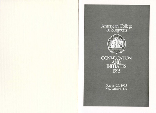 1995 Convocation Booklet